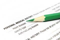 医疗的历史记录 库存图片