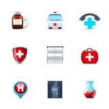 医疗的图标 免版税库存图片