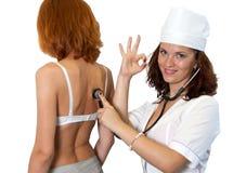 医疗的考试 库存照片