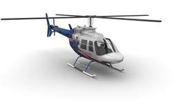 医疗直升机前面 库存照片