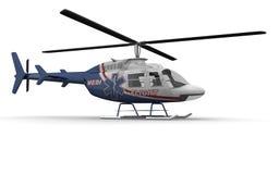 医疗直升机端 免版税库存图片