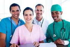 医疗纵向成功的小组工作 免版税库存图片