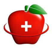 医疗苹果的图标 免版税库存图片