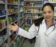 医疗药剂师妇女 库存图片