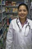 医疗药剂师妇女 免版税库存图片