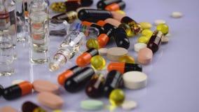 医疗药片和胶囊 股票视频
