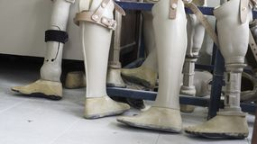 医疗设备塑料treatmenta的假腿 免版税图库摄影
