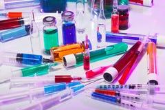 医疗设备玻璃实验室的寿命仍然 免版税图库摄影