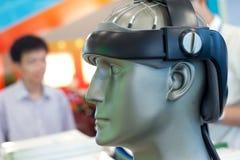 医疗设备,脑子试测器材 库存照片