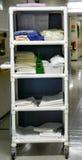 医疗购物车的卫生学 库存图片