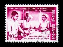 医疗队,刚果, serie的独立,大约1960年 免版税库存照片