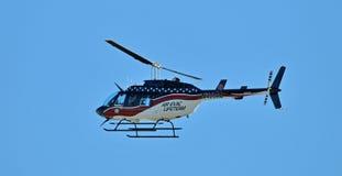 医疗飞行的直升机 库存图片