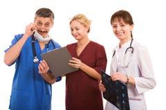 医疗兴高采烈的小组 免版税库存照片