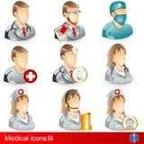 医疗3个的图标 免版税库存照片