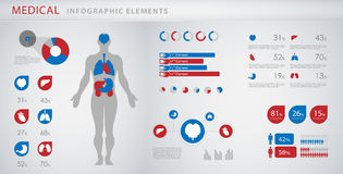 医疗infographic要素 免版税库存照片