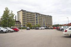 医院在Solleftea,瑞典 免版税库存图片