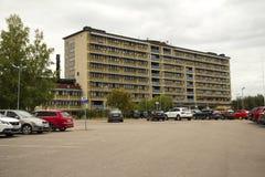 医院在Solleftea,瑞典 免版税库存照片