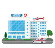 医院大厦,医疗象 向量例证
