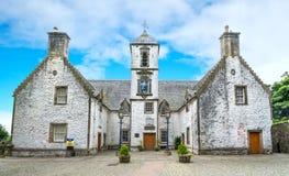 医院, 17世纪贫民院在老镇斯特灵,苏格兰 免版税图库摄影