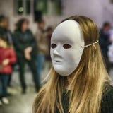 匿名的妇女 库存照片