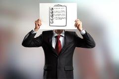 匿名采访 免版税库存图片