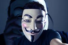 匿名Selfie 免版税图库摄影