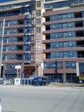 十一个优越公寓建筑 库存照片