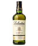 十七岁混和了苏格兰威士忌酒ballantines 库存照片