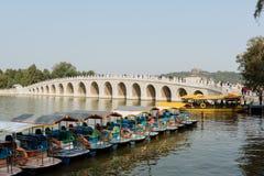 十七曲拱狮子桥梁在北京 库存照片