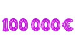 十万欧元,紫色颜色 免版税库存图片