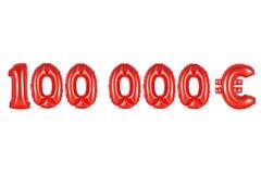 十万欧元,红颜色 库存图片
