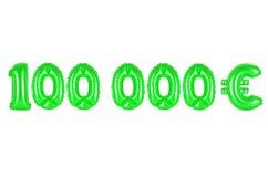 十万欧元,绿色 库存图片