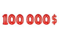 十万美元,红颜色 库存图片