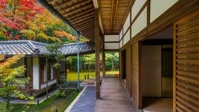 十三弦琴在寺庙在京都 库存照片