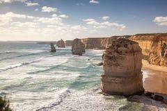 十二个传道者岩石在澳大利亚 免版税库存图片