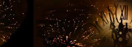 十二个时钟新年背景 免版税库存图片