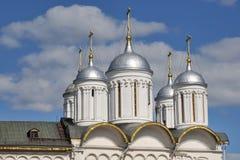 十二位传道者教会的盔甲圆顶在克里姆林宫 免版税库存图片