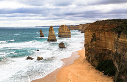 十二使徒岩在澳大利亚 图库摄影