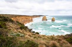十二使徒岩在澳大利亚 免版税库存照片