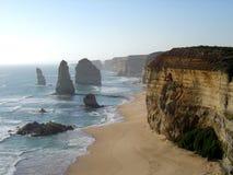 十二使徒岩在维多利亚,澳大利亚 库存照片