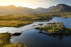 十二棵杉木海岛,站立在山脉的锋利的峰顶形成的华美的背景叫十二本什,县Ga 库存图片