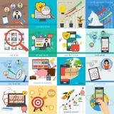十六企业概念 库存照片