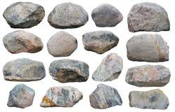 十六块大花岗岩石头 免版税库存图片
