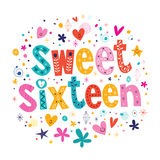 十六甜点 免版税库存图片