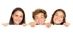 十几岁小组 免版税库存图片