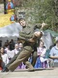 十几岁战士跳舞 免版税图库摄影