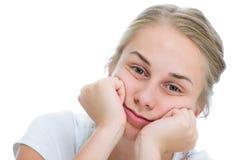 十几岁的女孩乏味 免版税库存照片