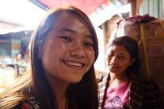 十几岁的女孩在Falam,缅甸(缅甸) 库存图片