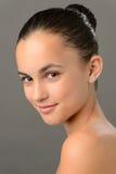 十几岁的女孩皮肤秀丽浪漫纯净芭蕾 免版税库存图片