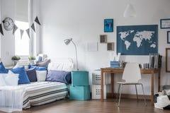 十几岁的男孩室设计 免版税库存照片